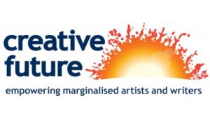The logo of Creative Future - empowering marginalised artists and writers