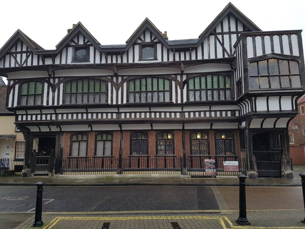 Tudor House in Southampton - a beautiful black and white timber-framed building