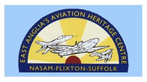 The logo of Norfolk and Suffolk Aviation Museum