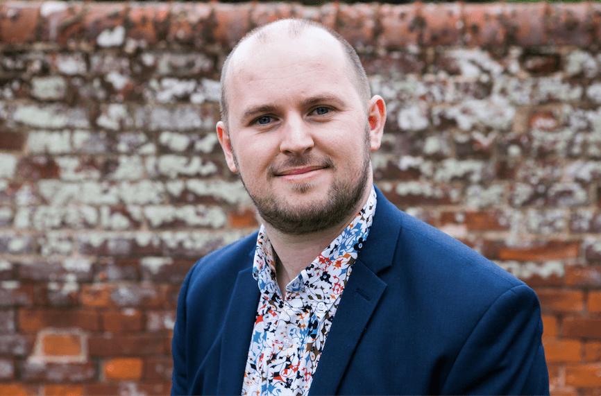 A headshot of David Burgess, Director of Apollo Fundraising