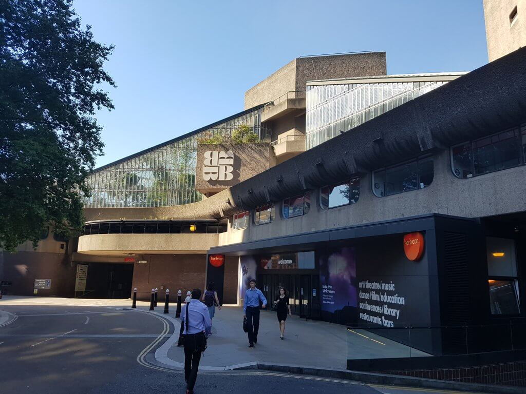 The outside of the Barbican arts centre in London
