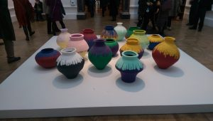 Ei Weiwei's 15 painted Han urns from the Royal Academy exhibition of his work
