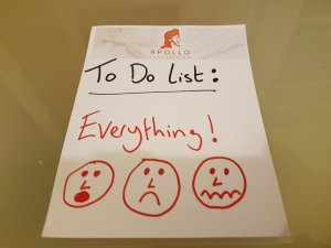 "A To Do list. The only entry on the 'to do' list says ""Everything!"""