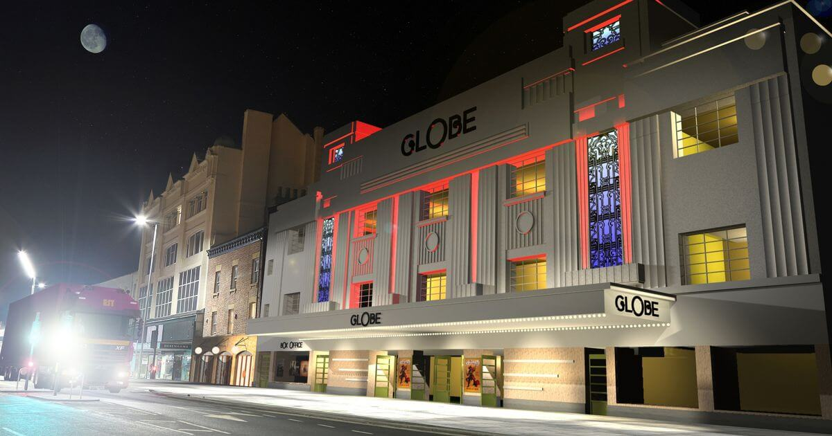 An artist's impression of what the restored Stockton Globe will look like