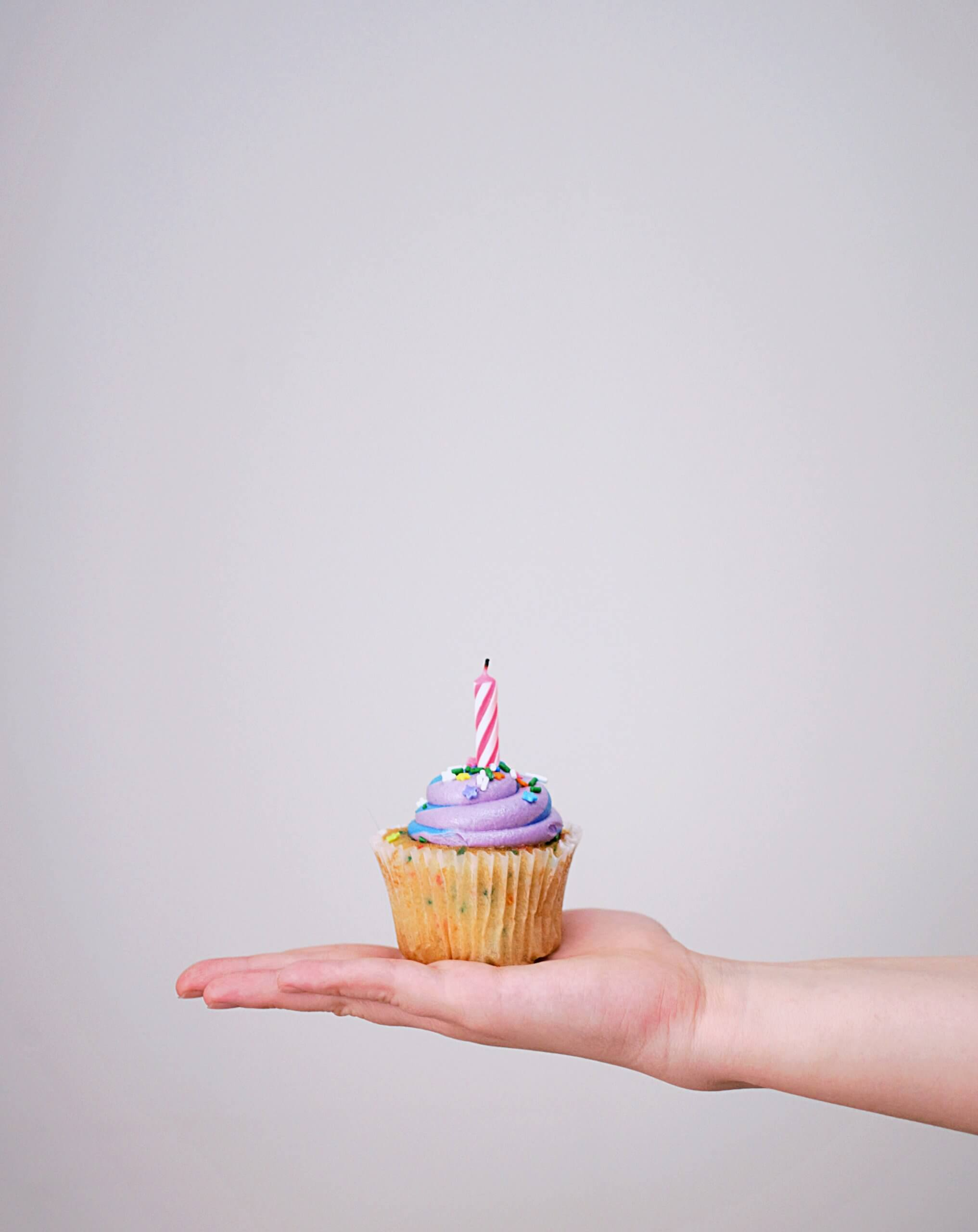 A lonely birthday cupcake